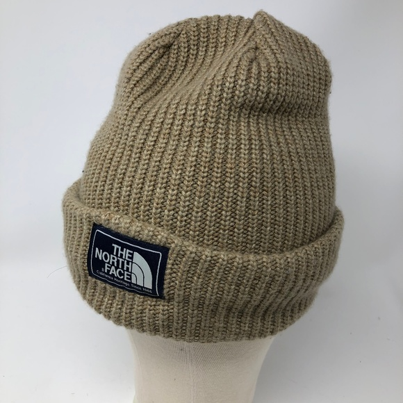 ce15cbab7 The North Face Beanie Winter Hat Beige OS NWOT
